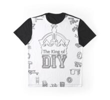 The King of DIY - White Letters Graphic T-Shirt