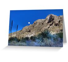 Moonrise Over the Franklin Mountains Greeting Card