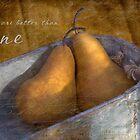 Two Pears by JulieLegg