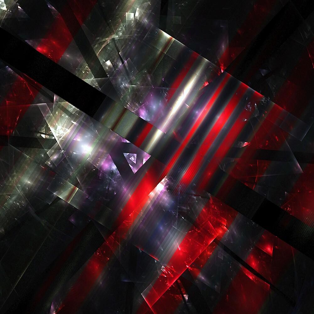 Red Fractures by Benedikt Amrhein