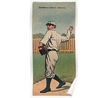 Benjamin K Edwards Collection Edgar Summers Hugh Jennings Detroit Tigers baseball card portrait Poster