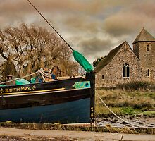 St Margaret's Church and the Edith May, Lower Halstow by Dave Godden