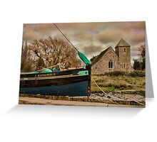 St Margaret's Church and the Edith May, Lower Halstow Greeting Card