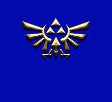 Tri-force zelda on blue by aaronnaps