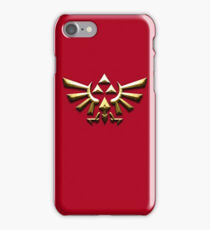 Tri-force zelda on Red iPhone Case/Skin