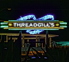 Threadgills - Austin, Texas - Night Signs Series  by Jack McCabe