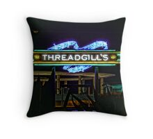 Threadgills - Austin, Texas - Night Signs Series  Throw Pillow