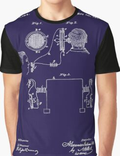 A. G. Bell Telephone Receiver Patent Graphic T-Shirt