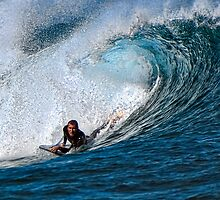 Surfing Action by Andy and Von Quinn
