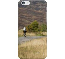 The lonely cyclist iPhone Case/Skin