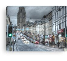Bristol University and Park Street, Bristol. Canvas Print