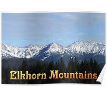 Elkhorn Mountains - OREGON Poster