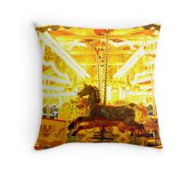 GALLOPING INTO THE LIGHT Throw Pillow