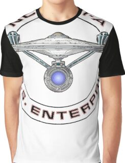 USS Enterprise Logo - Star Trek - NCC-1701-A (Movie Colour) Graphic T-Shirt