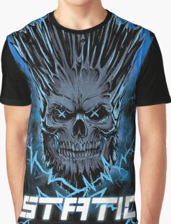 Static Skull Graphic T-Shirt