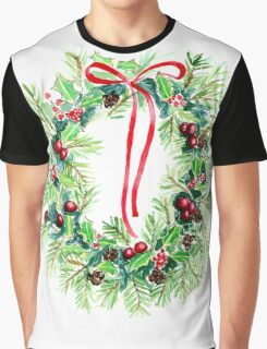 Christmas Wreath  Graphic T-Shirt