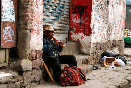 People 4171  La Paz, Bolivia by Mart Delvalle