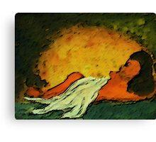 Sleeping, watercolor Canvas Print