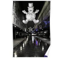 Spooky snowman Poster