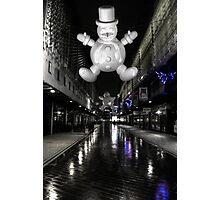 Spooky snowman Photographic Print