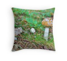 A Mushroom's World Throw Pillow