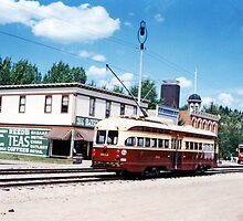 1920's Street & Streetcars, Fort Edmonton, Alberta, Canada by Adrian Paul