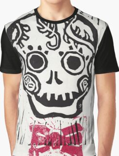Dandy Skull with Bowtie Graphic T-Shirt