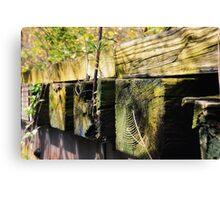 Nature versus Railroad ties Canvas Print