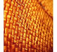 Orange Weave Photographic Print