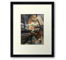 Those that wait by the sea Framed Print