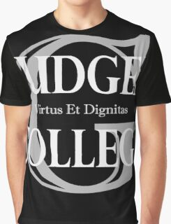 Gudger College (White & Light Grey text) Graphic T-Shirt
