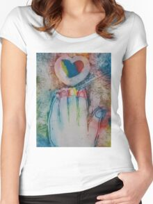 Reach for the Rainbow Women's Fitted Scoop T-Shirt