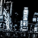 Times Square (b&w) 2 by Robin Lee