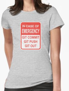 Git Out Womens Fitted T-Shirt