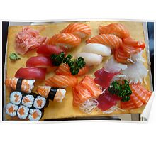 sushi and sashimi Poster
