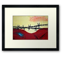 Abstract - barbed wire  Framed Print