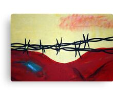Abstract - barbed wire  Canvas Print