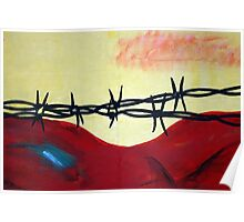 Abstract - barbed wire  Poster