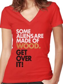 Get Over It! Women's Fitted V-Neck T-Shirt