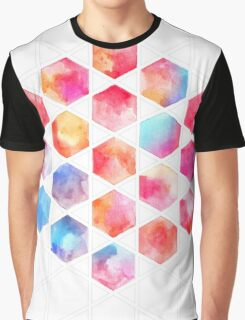 Radiant Hexagons - geometric watercolor painting Graphic T-Shirt