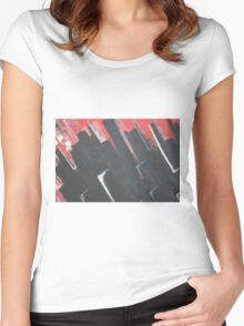 Abstract - blocks  Women's Fitted Scoop T-Shirt