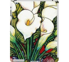 White Lilies iPad Case/Skin