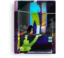 blue man walking Canvas Print