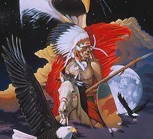 Eagle warrior by Graeme  Stevenson