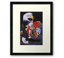 Eagle warrior Framed Print