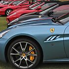 Long Row of Ferraris by Ferenghi