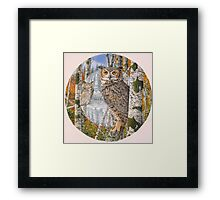 Great Horned Camouflage  Framed Print