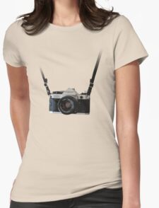 Amazing Hanging Canon Camera - AE1 Program! Womens Fitted T-Shirt