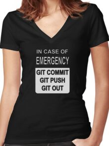 Git Out Custom Women's Fitted V-Neck T-Shirt