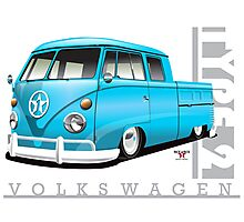 Double Cab in Blue Photographic Print